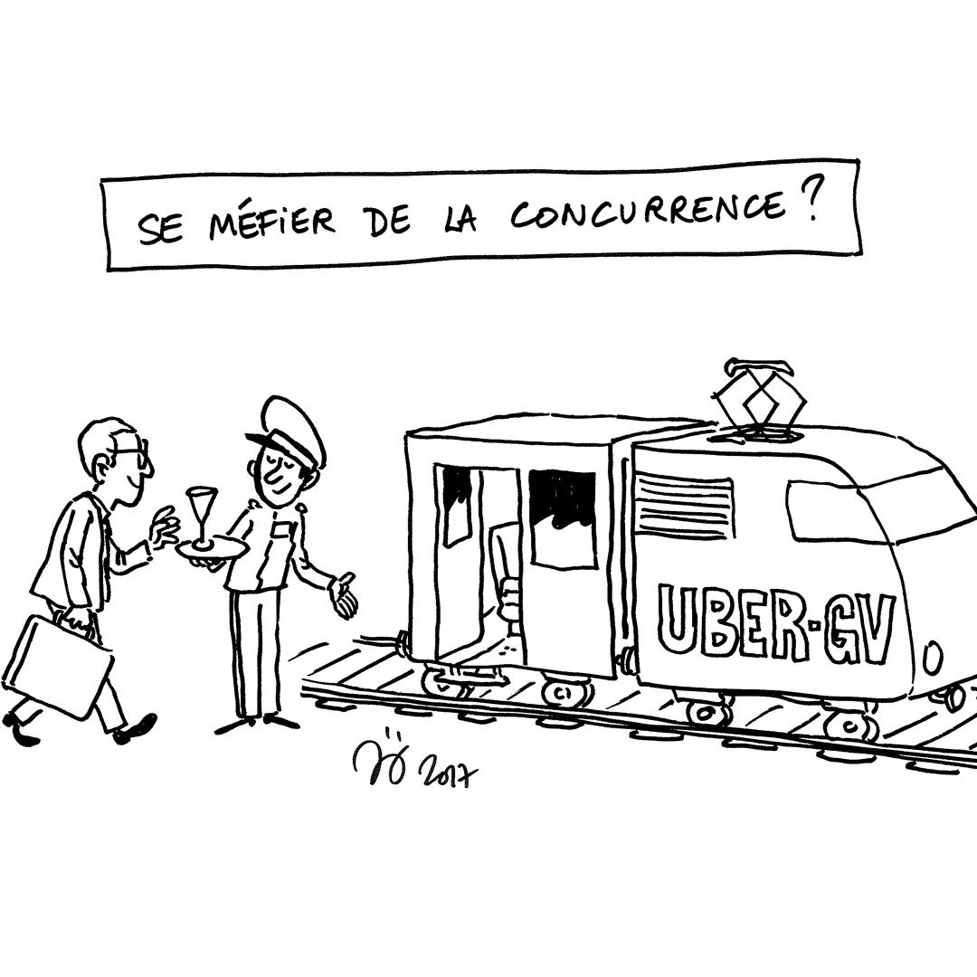 Dessin croquis à destination de la SNCF pour le forum des salariés