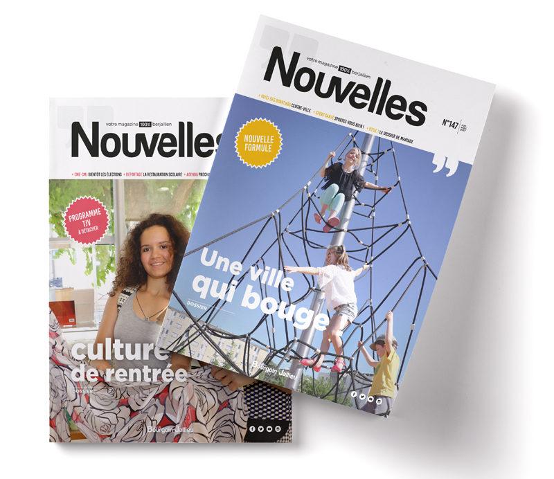 Première page de couverture du magazine municipal de la ville de Bourgoin-Jallieu