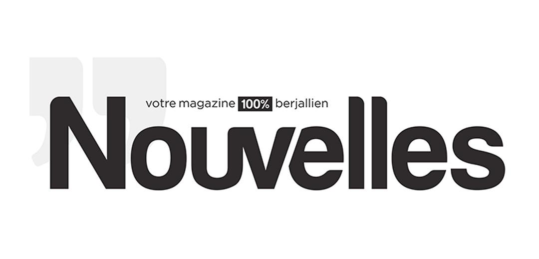 """Logotype noir sur fond blanc du magazine de la ville de Bourgoin-Jallieux """"Nouvelles"""""""