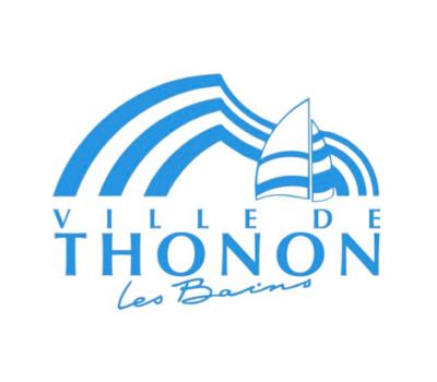 Logo de la ville de Thonon-les-Bains : bateau et vague