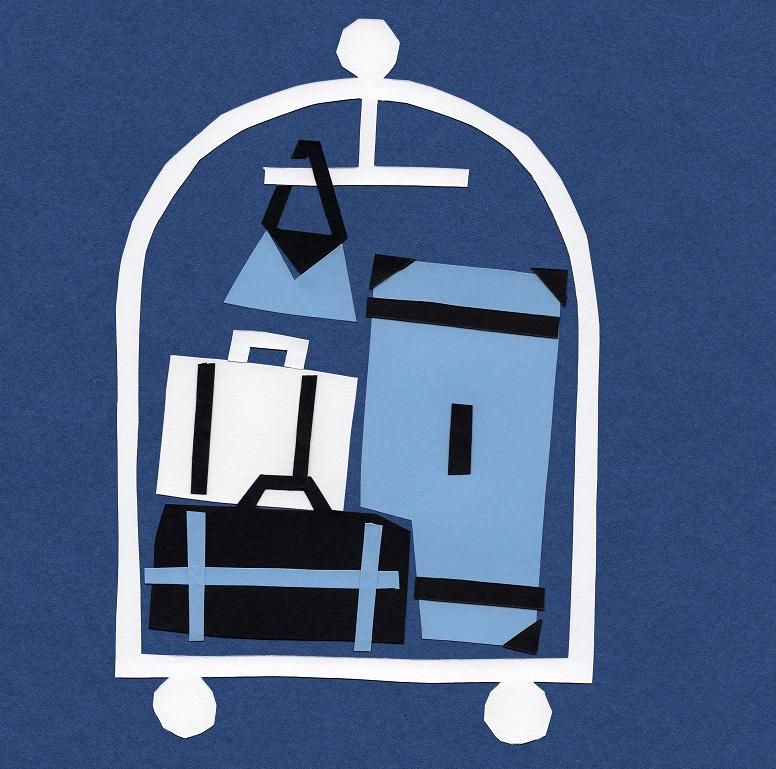 Logo avec valises du Colorama Street Art Festival 2020