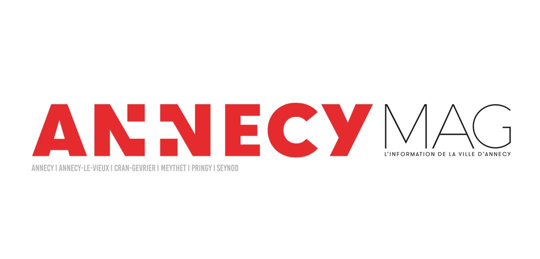 Nouveau logotype du magazine municipal de la ville d'Annecy