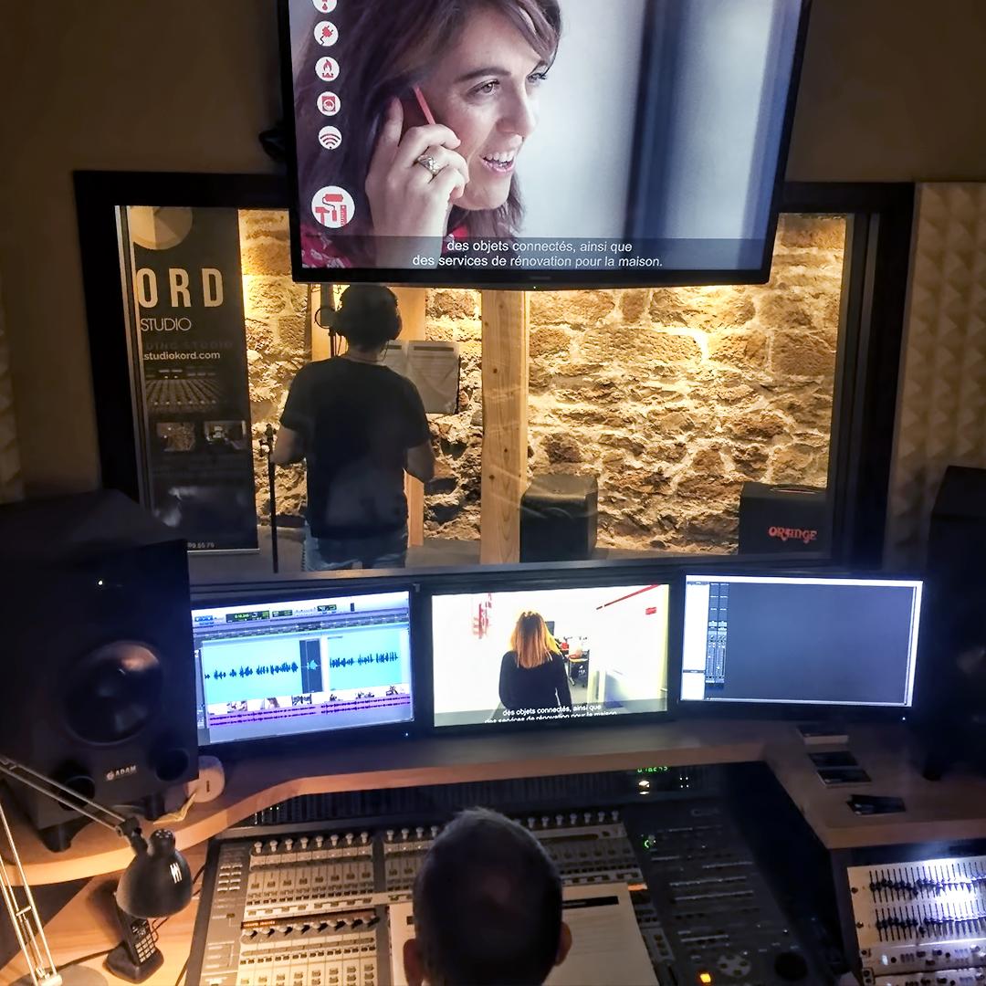 Enregistrement de la voix off du film corporate Homeserve