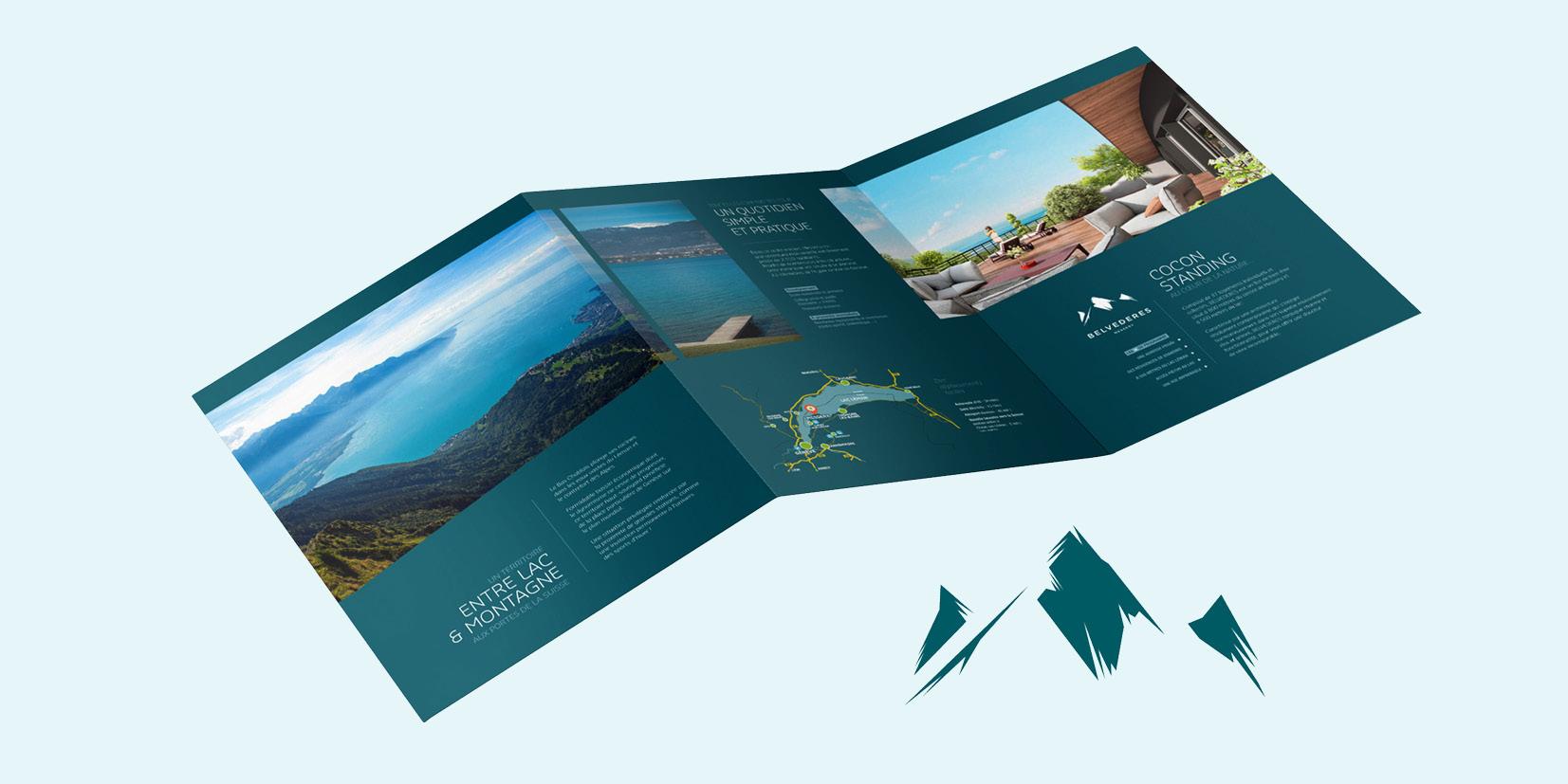 Mise en page et direction artistique de la plaquette du programme Bouygues Immobilier Messery