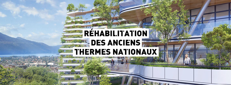 Identité visuelle réunion publique des thermes de la ville d'Aix les Bains