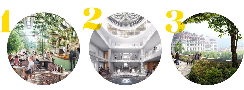Projets architecturaux soumis aux votes des aixois dans le cadre des réunions publiques