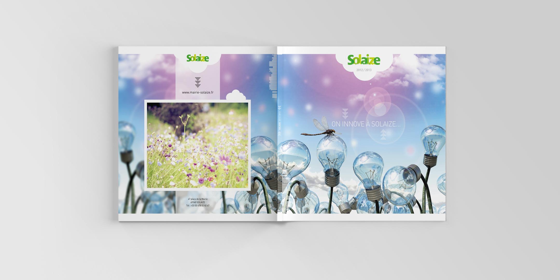 Pages intérieures de la brochure municipale de Solaize