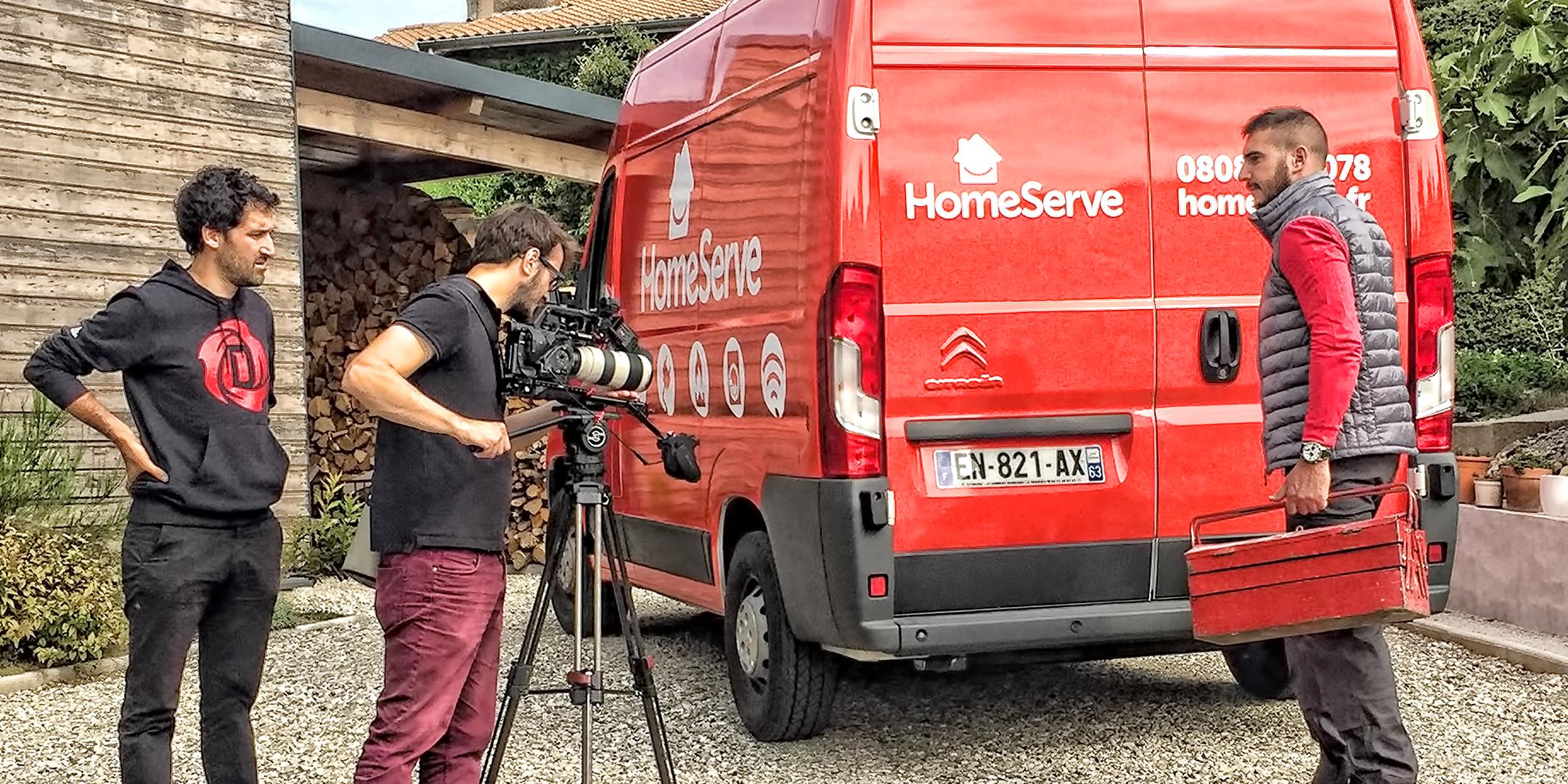 Captation d'images pour le film corporate Homeserve
