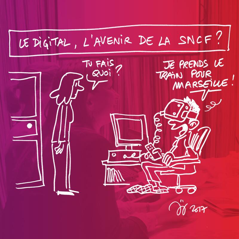 Prise de parole des salariés SNCF sur scène à l'occasion de la plénière SNCF