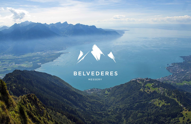 Intégration du logotype sur paysage du Lac Léman