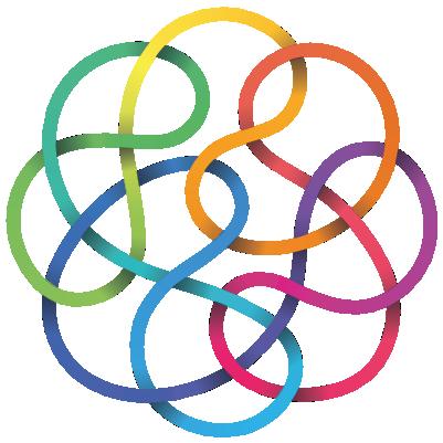 Logo de l'Offside Galery : traits de couleurs entrelacés