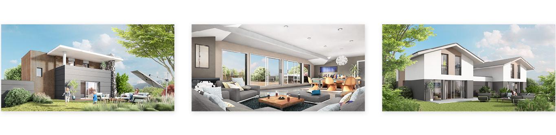 Perspectives 3D du programme immobilier réalisé par notre agence de communication