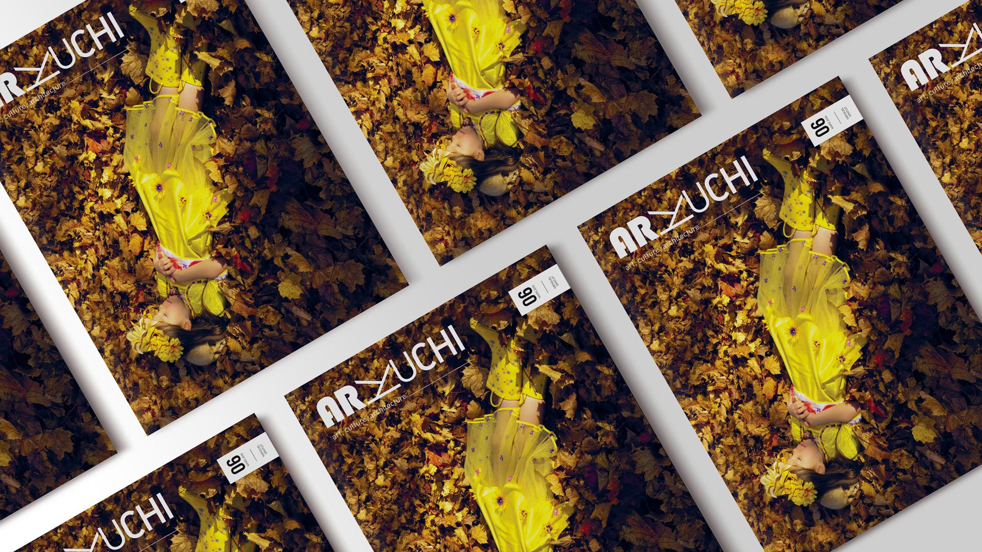 Diverses couvertures du magazine Arkuchi posées les unes à côté des autres