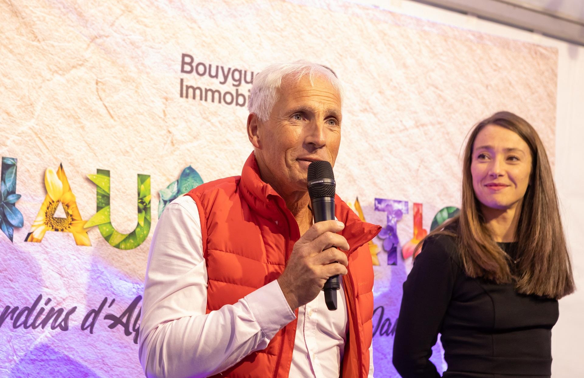 Moment de prise de parole par un résident lors de l'inauguration de la résidence Bouygues Immobilier