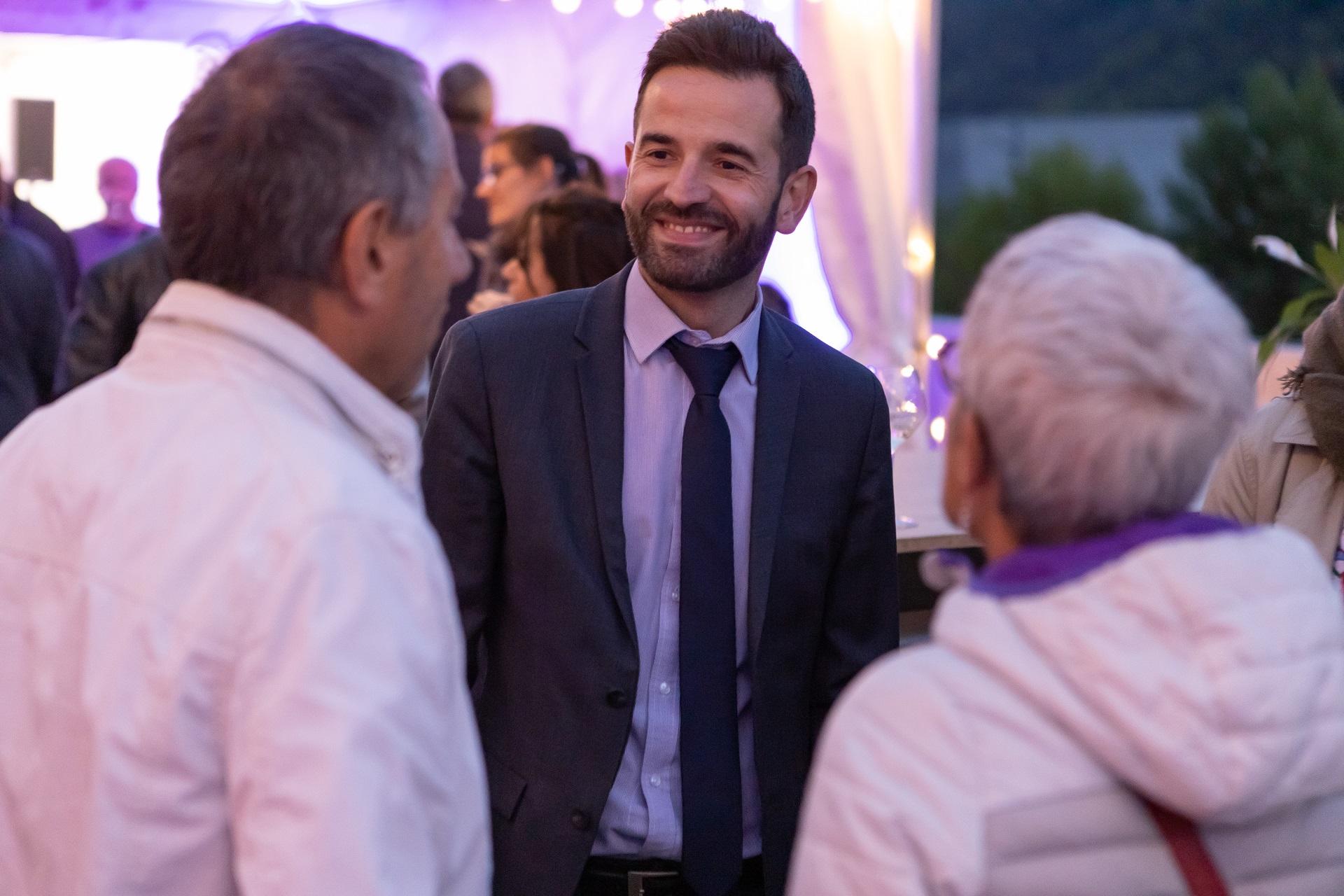 David Queiros, maire de la comme de Saint-Martin-d'Hères, présent à la soirée Bouygues Immobilier