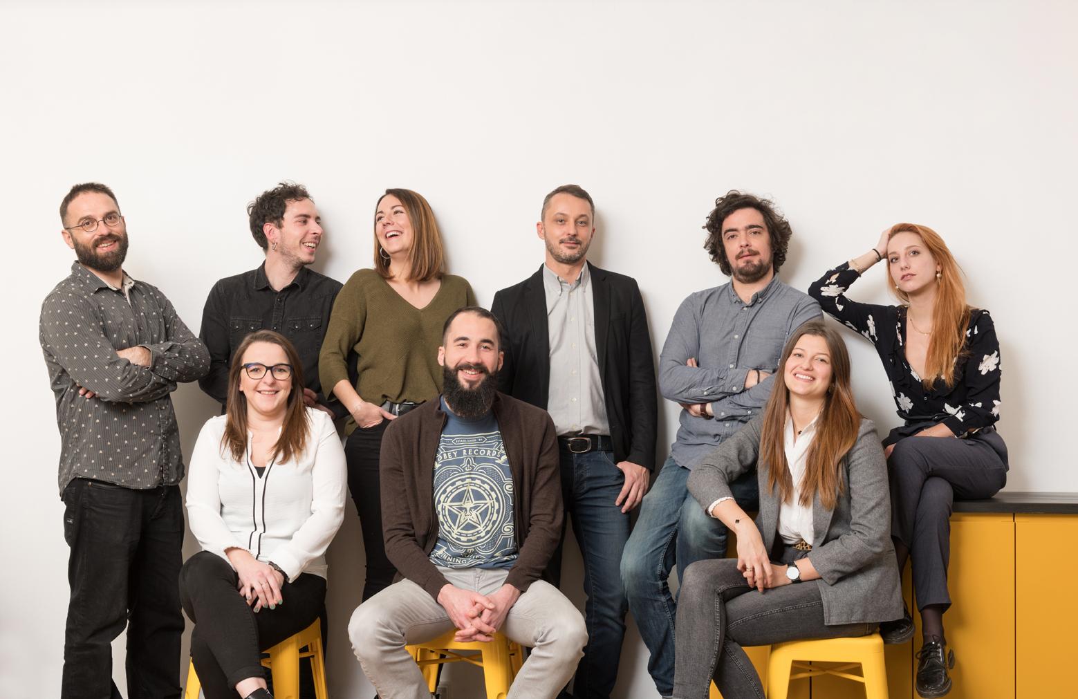 Equipe au complet de l'agence de communication DBAB : we are the team !