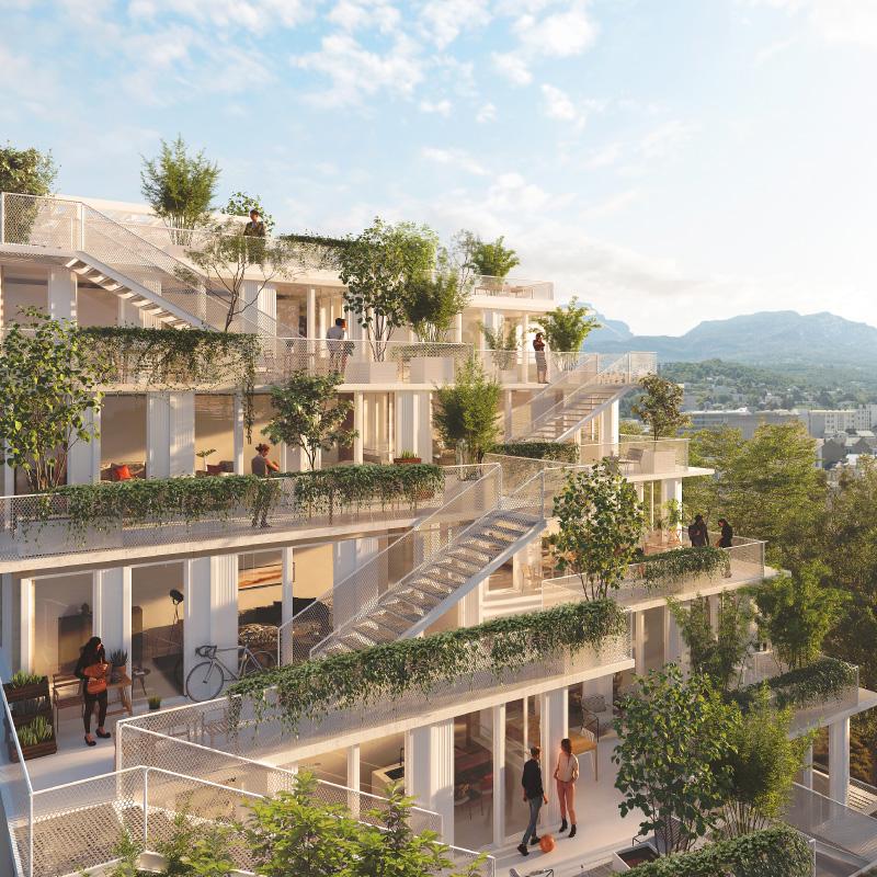 Modélisation des terrasses du projet immobilier