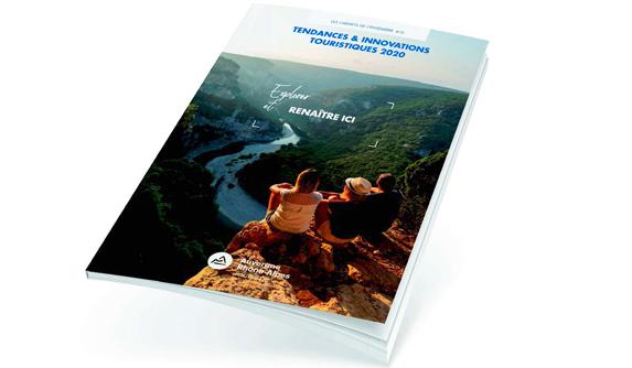 Carnet de Tendance et Innovations touristiques 2020 mis en page par notre studio graphique