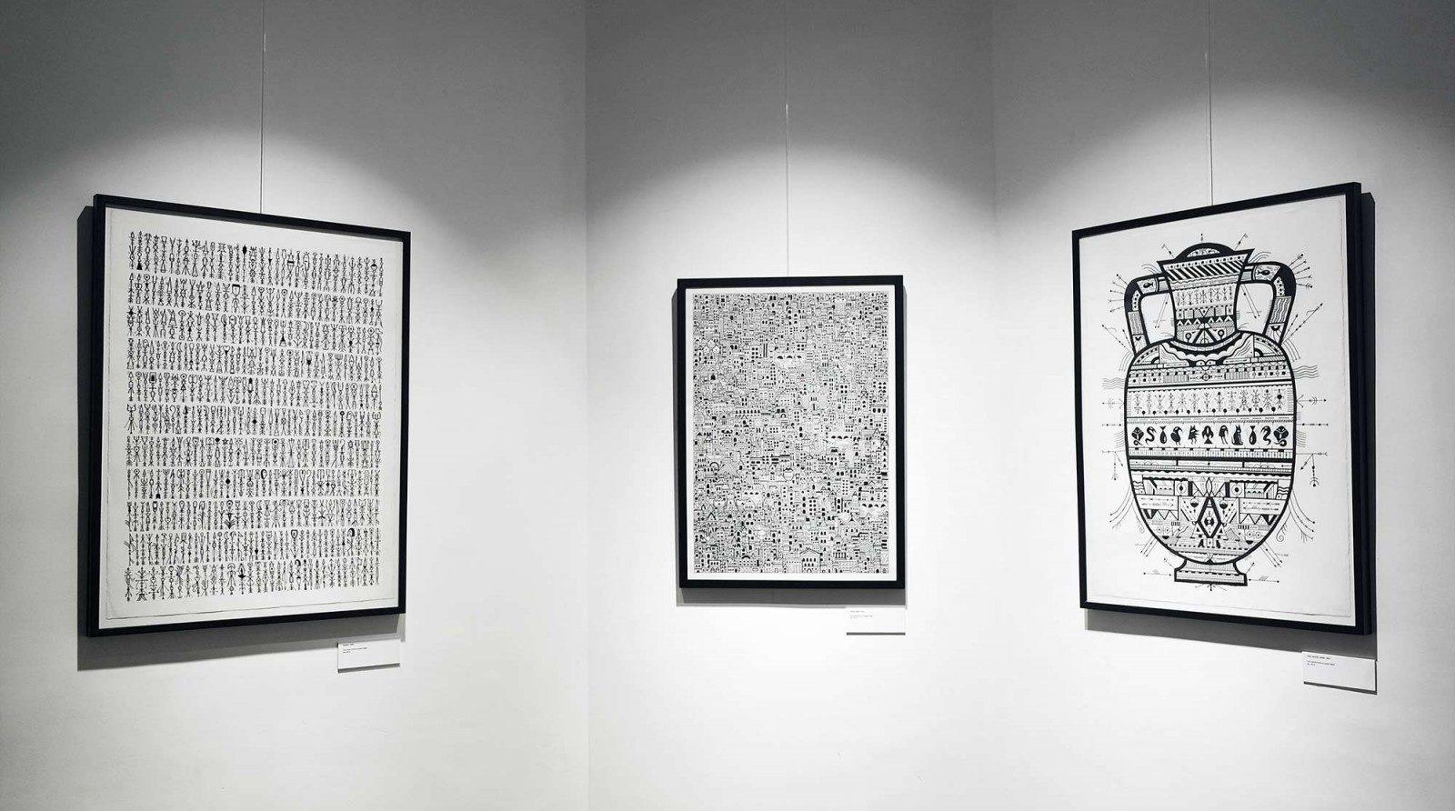 Réalisation de trois tableaux en noir et blanc à la bombe de peinture pour l'exposition Johnny Clegg par Grems noir et blanc de l'exposition Johnny Clegg par Grems pour illustrer les relations presse de l'inauguration réalisé par notre agence