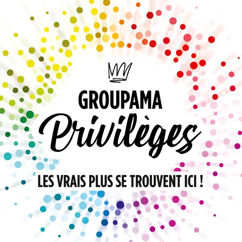 Logo de l'offre groupama privilèges sur fond blanc