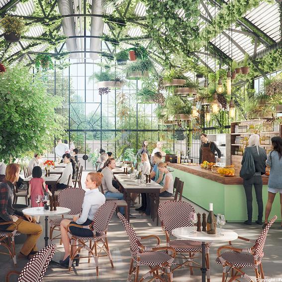 Image en 3D des potentielles futures Thermes d'Aix les bains vues par un des architectes présentés