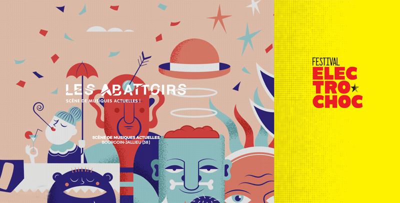 Le site internet Les Abattoirs en version festival créé par l'agence du Bruit au Balcon
