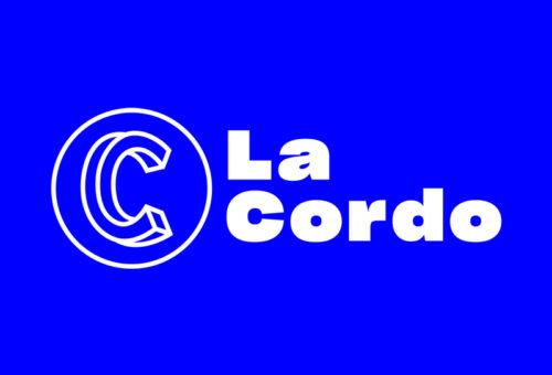 Logo de la Cordo sur fond bleu klein