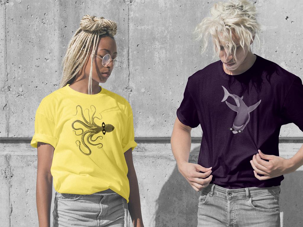 Tee-shirt aux couleur du visuel de la saison