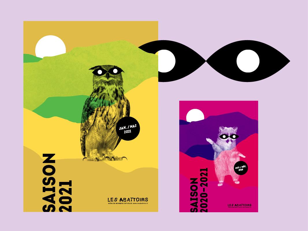 Visuel de saison imaginé par notre agence de communication : la revanche des animaux masqués