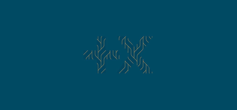 Logotype texture sur fond Pantone