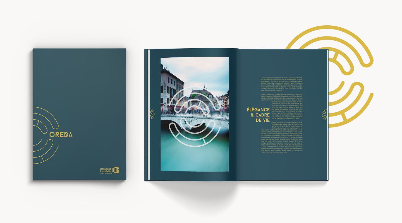 Brochure commerciale du programme immobilier mise en page et imaginée par notre agence de communication