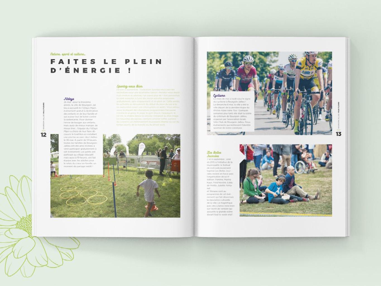 Direction artistique du support Ville Fleurie pour la ville de Bourgoin Jailleu