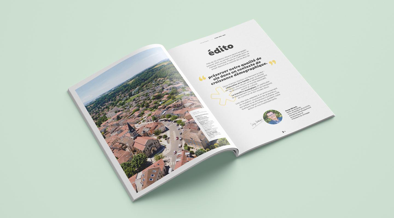Edito du plan de mandat Brignais aux couleurs de l'identité visuelle de la ville